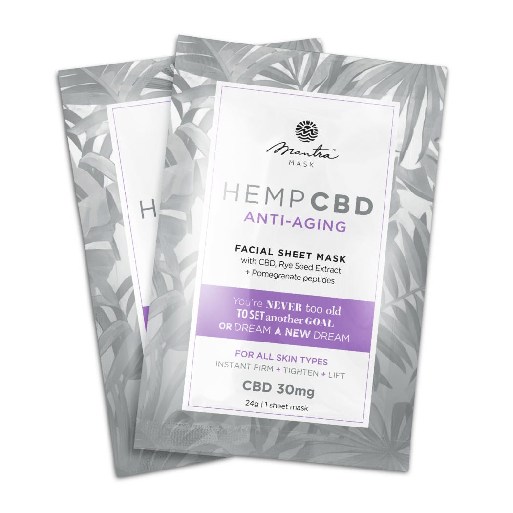 CBD Anti-aging facial sheet mask