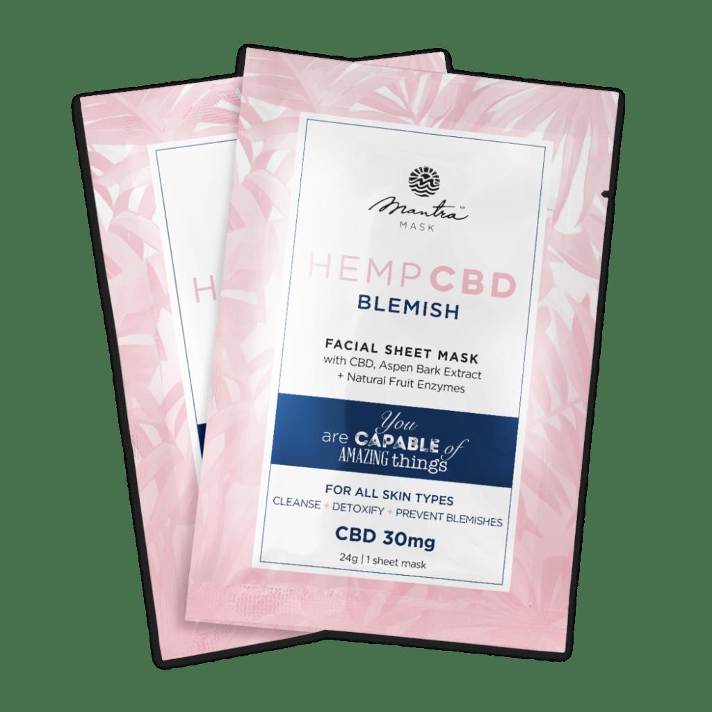 CBD Blemish facial sheet mask