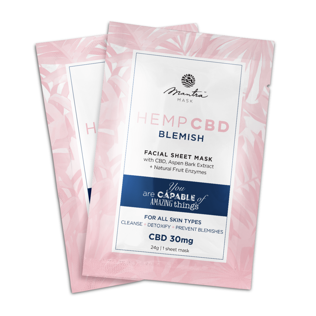 CBD Blemish facial sheet mask