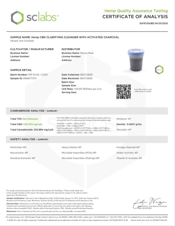Certificate of Analysis 3