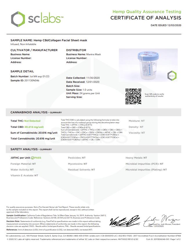 Certificate of Analysis 2